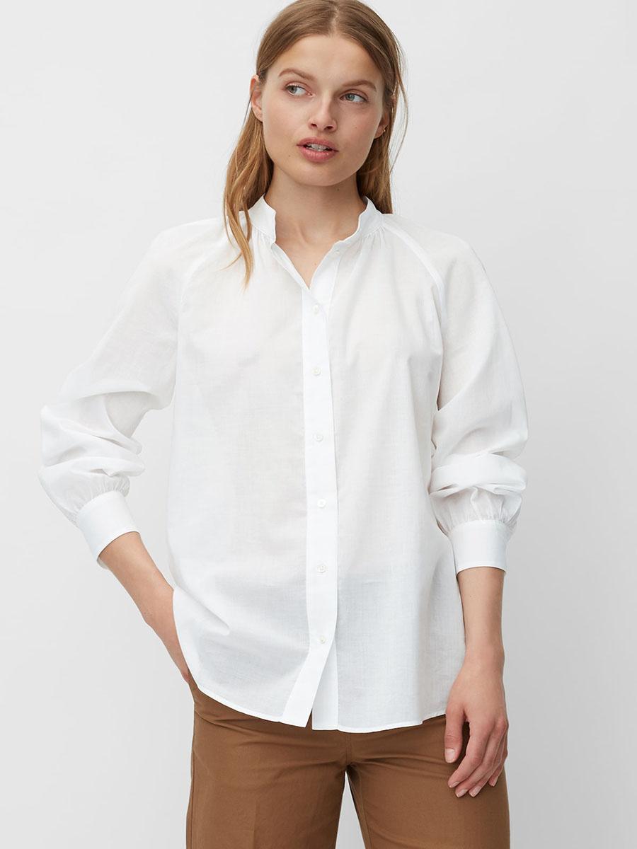 Essential klassische weisse Bluse Frauen basic